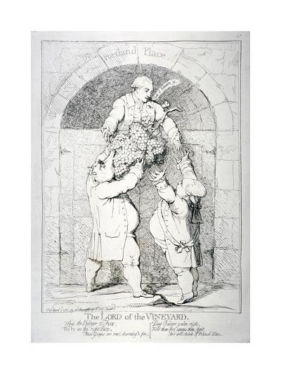 The Lord of the Vineyard, 1783-James Gillray-Giclee Print