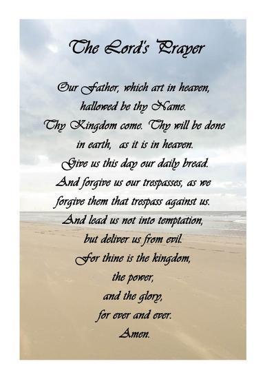 The Lord's Prayer - Beach-Veruca Salt-Art Print