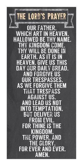 The Lord's Prayer - Chalkboard Style-Veruca Salt-Art Print