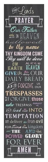 The Lord's Prayer - Chalkboard-Veruca Salt-Art Print