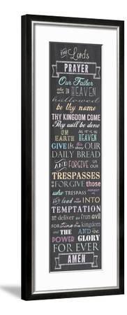 The Lord's Prayer - Chalkboard-Veruca Salt-Framed Art Print