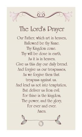 picture about Printable Lords Prayer known as The Lords Prayer - Floral Artwork Print as a result of Veruca Salt