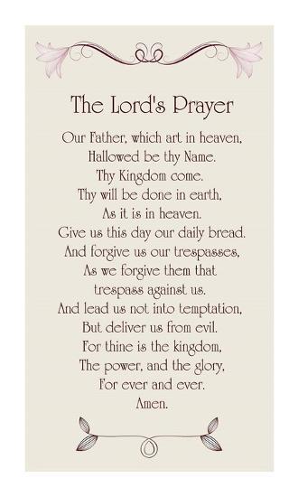 The Lord's Prayer - Floral-Veruca Salt-Art Print