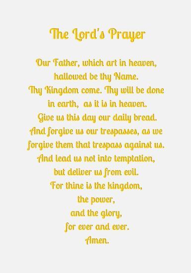 The Lord's Prayer - Gold-Veruca Salt-Art Print