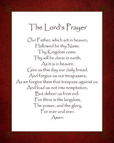 The Lord's Prayer - Red-Veruca Salt-Art Print