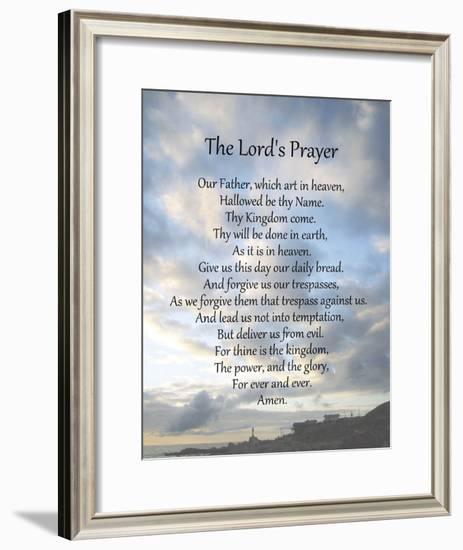The Lord's Prayer - Scenic-Veruca Salt-Framed Art Print