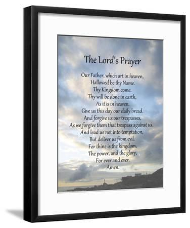 The Lord's Prayer - Scenic-Veruca Salt-Framed Art Print