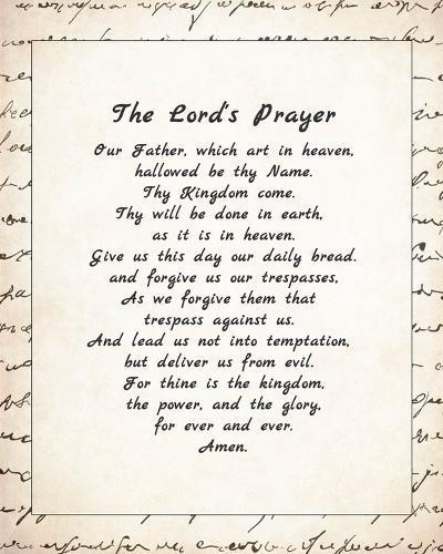The Lord's Prayer - Script-Veruca Salt-Art Print