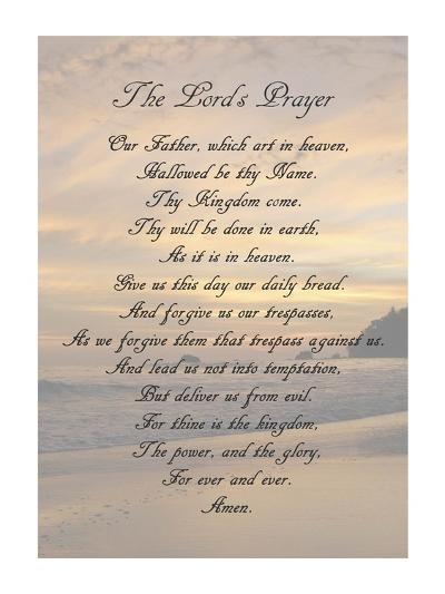 The Lord's Prayer - Sunset-Veruca Salt-Art Print