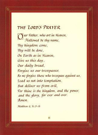 photograph regarding The Lord's Prayer Printable identified as The Lords Prayer Artwork Print through