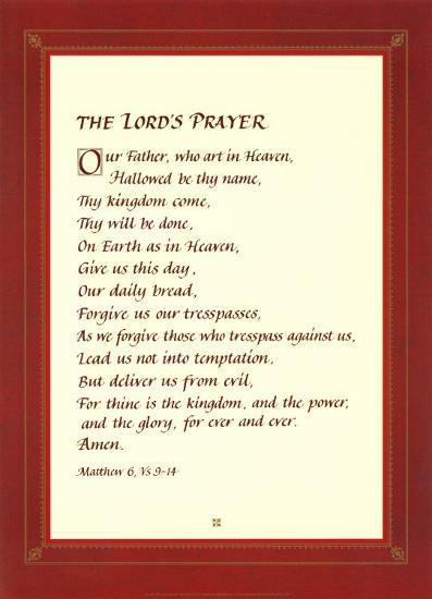 The Lord's Prayer--Art Print