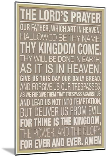 The Lord's Prayer--Mounted Print