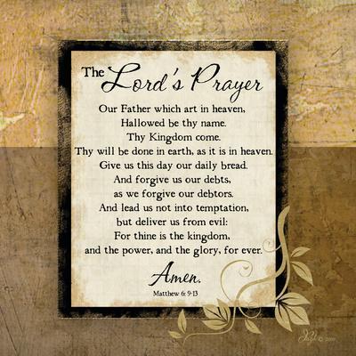 photo relating to The Lord's Prayer Printable called The Lords Prayer Artwork Print through Jennifer Pugh