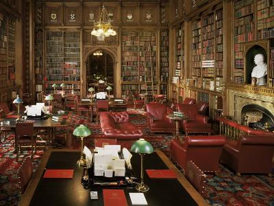 The Lords Library, Houses of Parliament, Westminster, London, England, United Kingdom-Adam Woolfitt-Photographic Print
