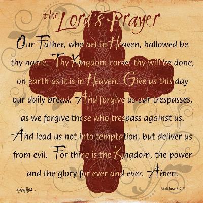 The Lords Prayer Cross-Diane Stimson-Art Print