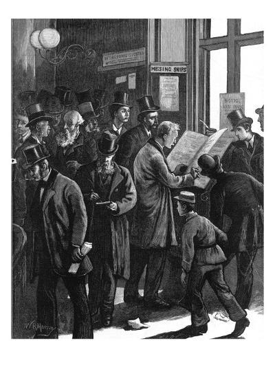 The Loss Book at Lloyd's of London, 1877--Giclee Print
