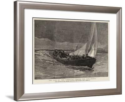 The Loss of the American, Making for Cape Palmas-Joseph Nash-Framed Giclee Print