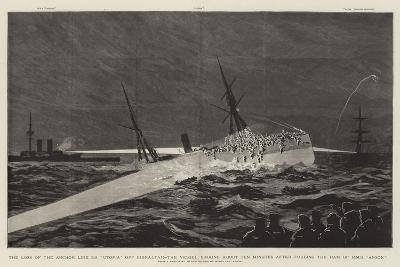The Loss of the Anchor Line Ss Utopia Off Gibraltar--Giclee Print