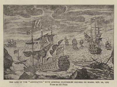 The Loss of the Association with Admiral Cloudesley Shovell on Board, 22 October 1707--Giclee Print