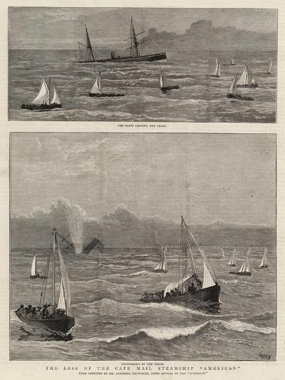 The Loss of the Cape Mail Steamship American-Joseph Nash-Giclee Print