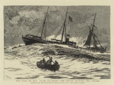 The Loss of the Clan Macduff, the Boats Leaving the Vessel-William Lionel Wyllie-Giclee Print