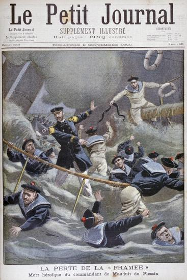 The Loss of the French Destroyer Framee, 1900--Giclee Print