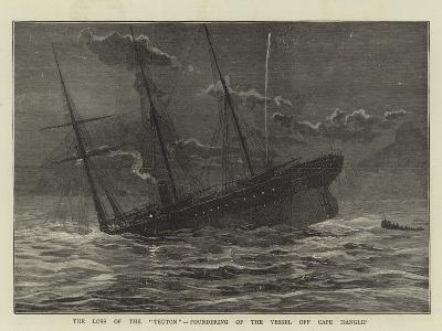 The Loss of the Teuton, Foundering of the Vessel Off Cape Hanglip--Giclee Print