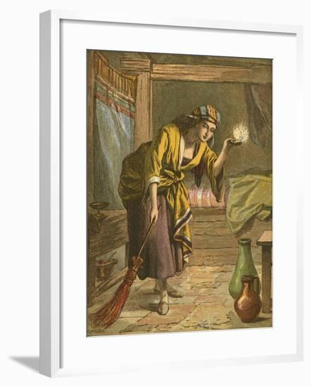 The Lost Piece of Silver-English School-Framed Giclee Print