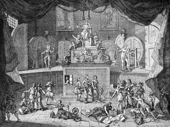 The Lottery, 1721-William Hogarth-Giclee Print