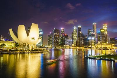 The Lotus Flower Shaped Artscience Museum Overlooking Marina Bay-Fraser Hall-Photographic Print