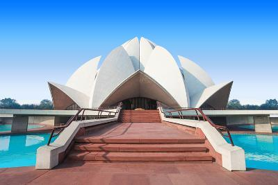 The Lotus Temple, Located in New Delhi, India, is a Bahai House of Worship-saiko3p-Photographic Print