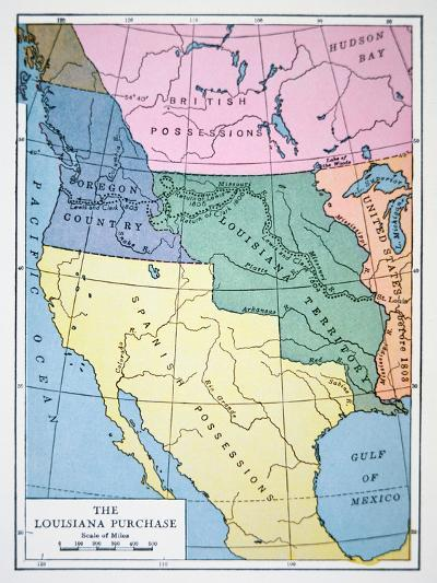 The Louisiana Purchase of 1803--Giclee Print