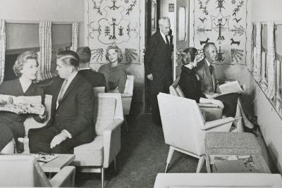 The Lounge Car of 'The Super Chief' on the Santa Fe Railway, 1950S--Photographic Print