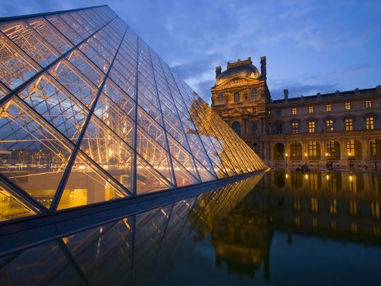 The Louvre at Twilight, Paris, France-Jim Zuckerman-Photographic Print