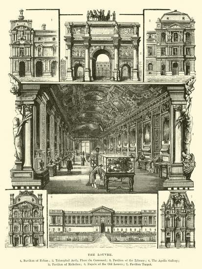 The Louvre--Giclee Print
