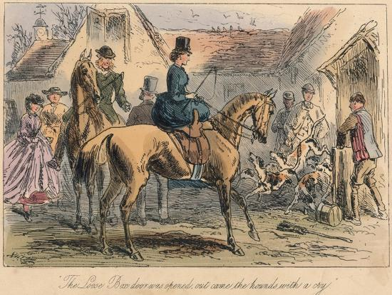 The Love Box Door Was Opened, Out Came the Hounds with a Cry, 1865-Robert Smith Surtees-Giclee Print
