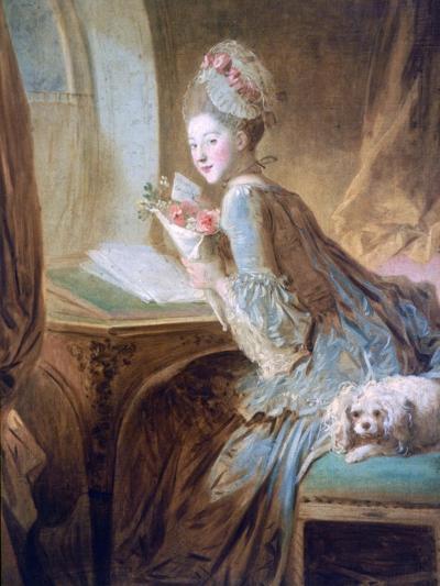 The Love Letter, C1770-Jean-Honore Fragonard-Giclee Print