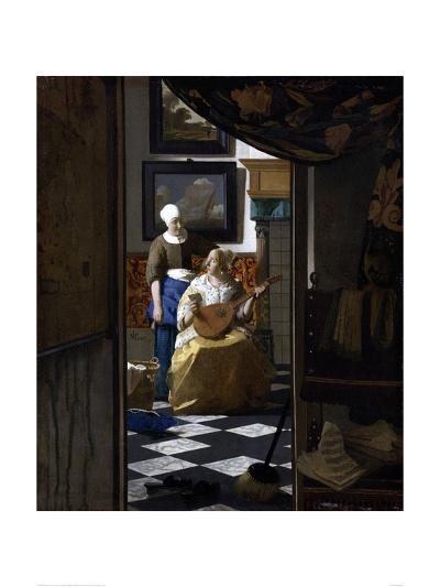 The Love Letter-Johannes Vermeer-Giclee Print