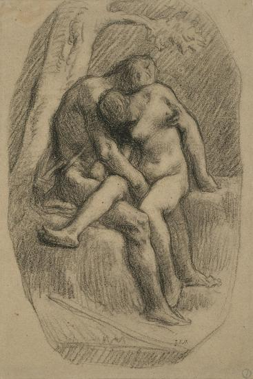 The Lovers, 1846-50-Jean-Francois Millet-Giclee Print