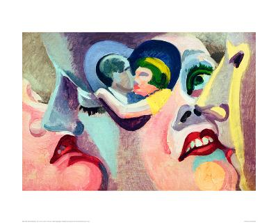 The Lovers of Paris: The Kiss, 1929-Robert Delaunay-Giclee Print