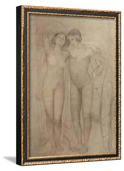 The Lovers-Giovanni Segantini-Framed Giclee Print