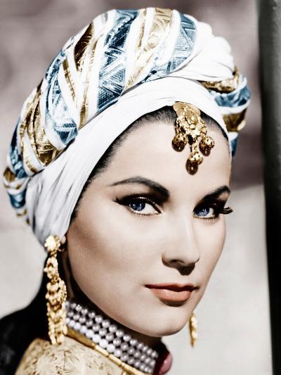 THE LOVES OF OMAR KHAYYAM, (aka OMAR KHAYYAM), Debra Paget, 1957--Photo