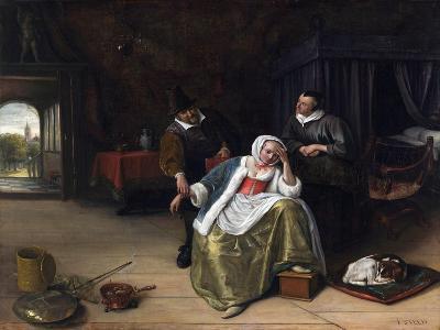 The Lovesick Maiden-Jan Havicksz^ Steen-Giclee Print