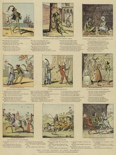 The Loving Ballad of Lord Bateman-George Cruikshank-Giclee Print