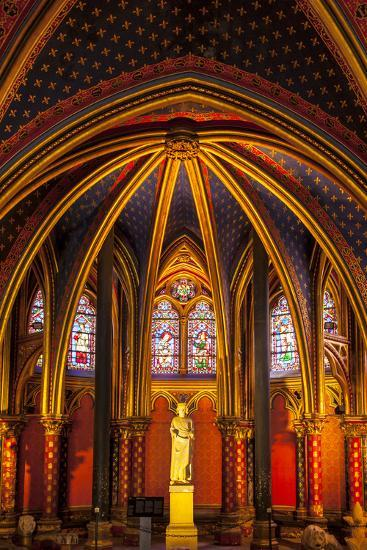 The Lower Chapel, Sainte Chapelle, Paris, France-Brian Jannsen-Photographic Print
