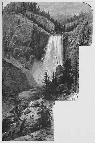 'The Lower Falls', 1883-Unknown-Giclee Print