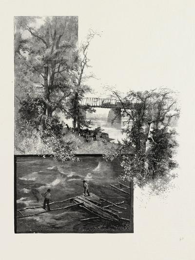 The Lower Ottawa, Back River Bridge, and Shad Fishing, Canada, Nineteenth Century--Giclee Print