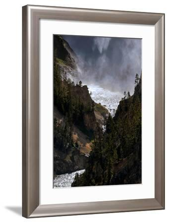 The Lower Yellowstone Falls and the Yellowstone River in the Grand Canyon of the Yellowstone-Babak Tafreshi-Framed Photographic Print