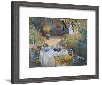 The Luncheon: Monet's Garden at Argenteuil, circa 1873-Claude Monet-Framed Giclee Print