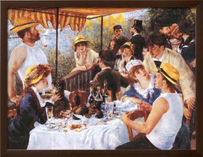 The Luncheon of the Boating Party, c.1881-Pierre-Auguste Renoir-Framed Textured Art